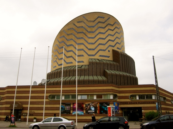 Passing the Tycho Brahe Planetarium on our way to dinner