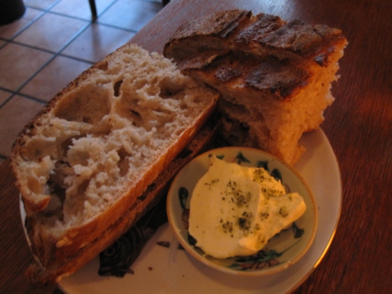 Sourdough bread with smoked bone marrow butter and lemon verbena salt