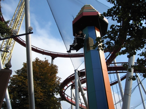 One of the rollercoasters