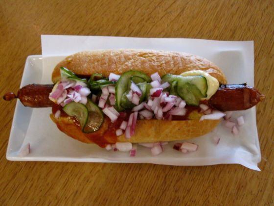 Famous hotdog from Andersen Bakery