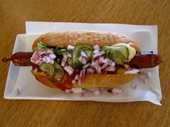 Famous hotdog from Andersen Bakery