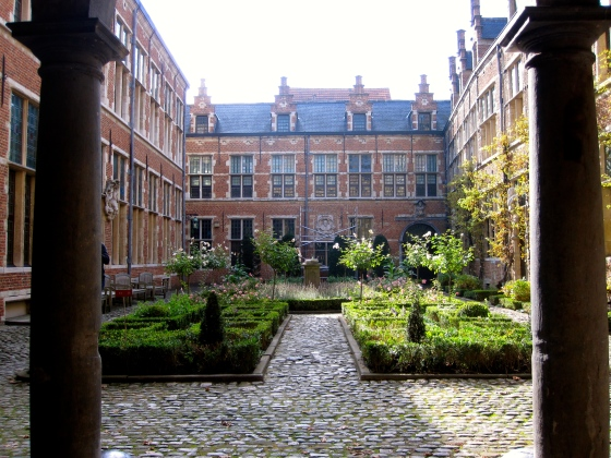 Inside the courtyard