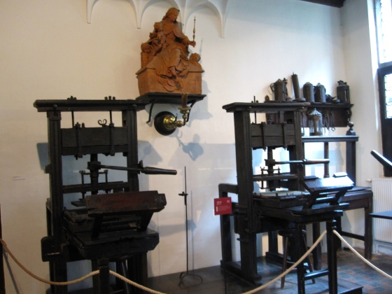 Two oldest working printing presses in the world