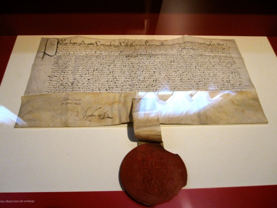 Parchment with seal of Philip II