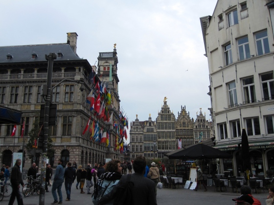 Heading toward the Grote Markt