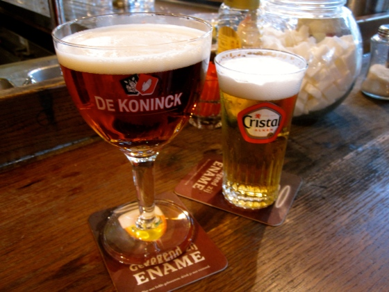A couple of Belgian beers