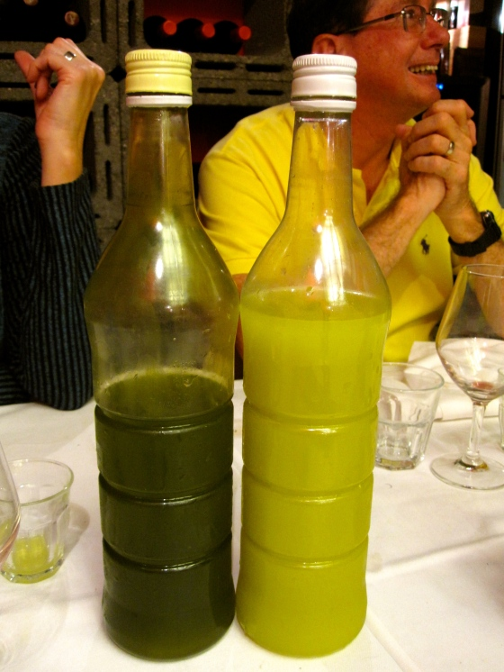 Our digestif: homemade limoncello and laurier liquor