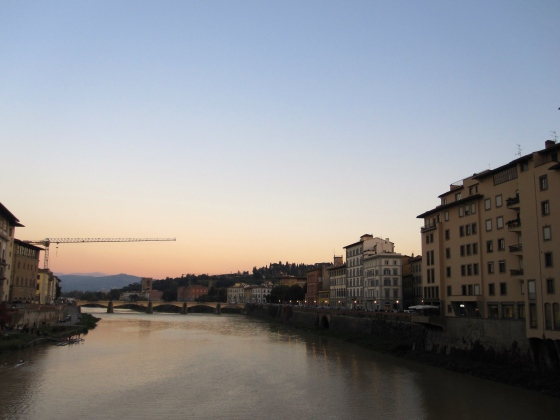 First view of the Arno River