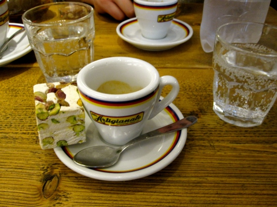 My espresso and pistachio nougat