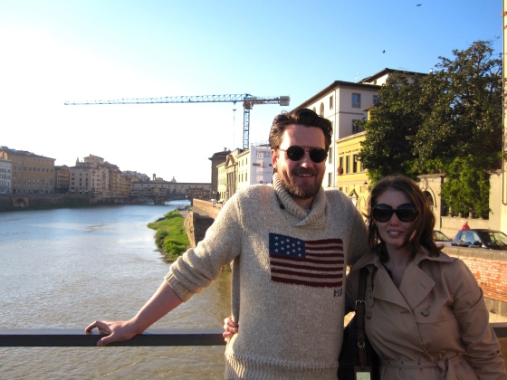 Koen and me with the Ponte Vecchio