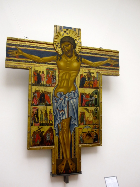"""Crucifix and Eight Stories from the Passion"" Maestro Della Croce, 1240"