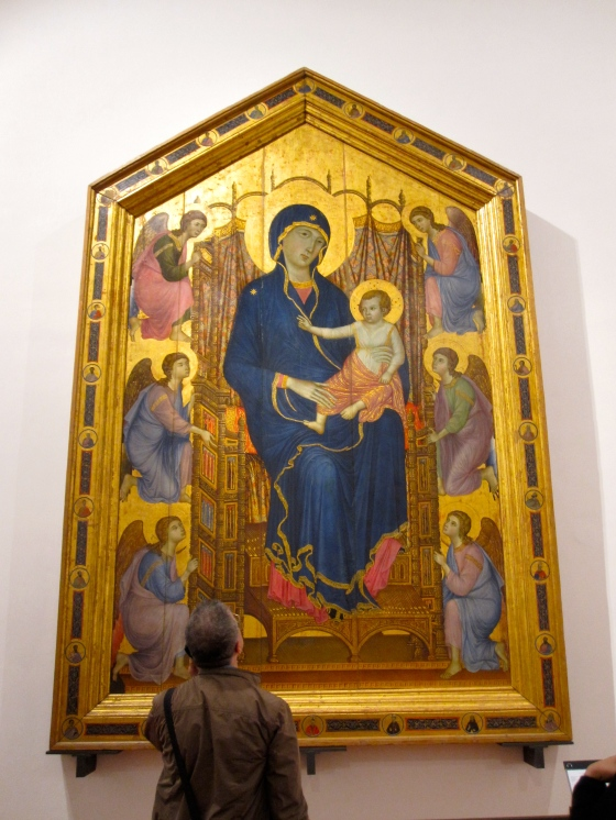 """Madonna and Child Enthroned with Angels. Santa Maria Novella Maestà"" Duccio Di Boninsegna, 1285"