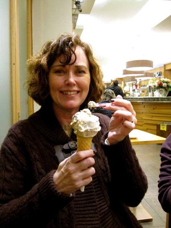 Mom with her gelato