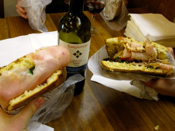 Manolo's Sandwich and La Porchetta