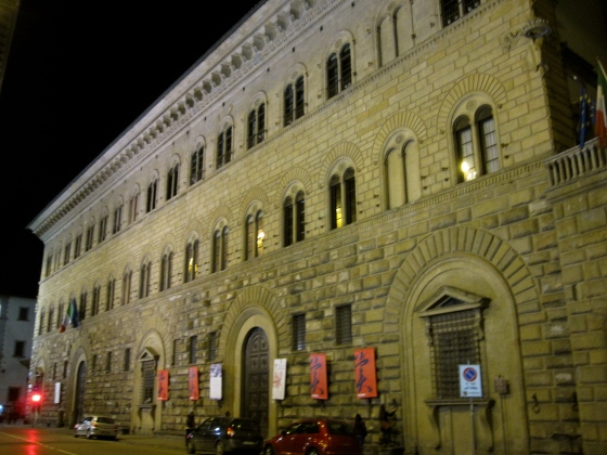 Passing the Palazzo Medici Riccardi on the way back home