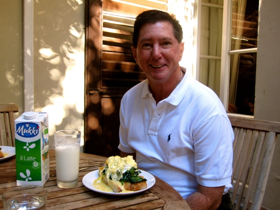 Dad with his Eggs Florentine