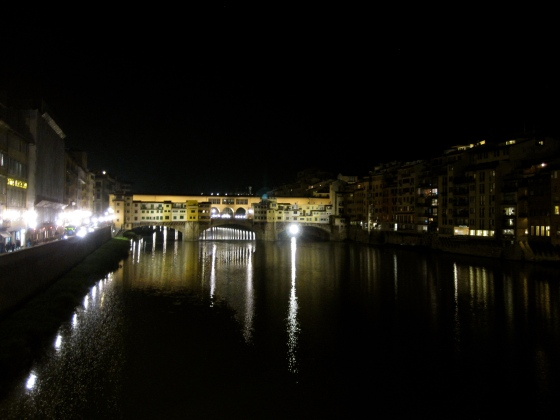View of the Ponte Vecchio as we cross the Arno River