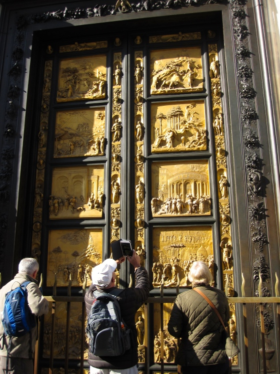 The East Door, which Michelangelo called the Gates of Paradise