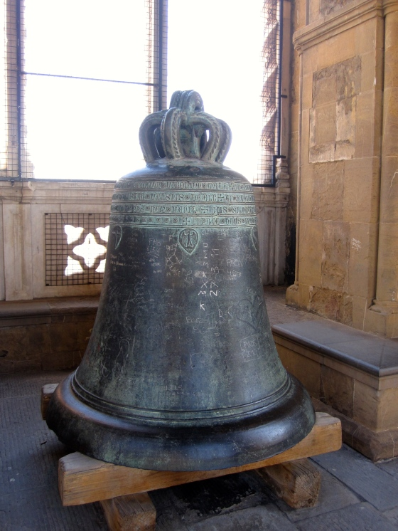 One of the old bells on display