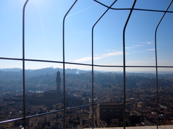 Overlooking Florence from the top