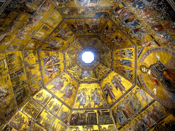 First view when walking into the Baptistery