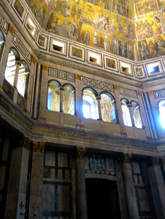 Inside the Baptistery