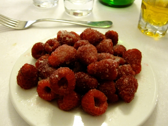 Koen's raspberries with lemon