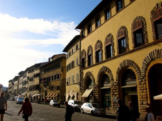 Approaching the Pitti Palace