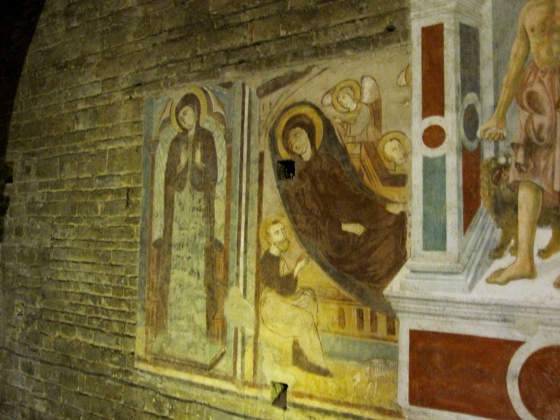 Closeup of one of the frescos