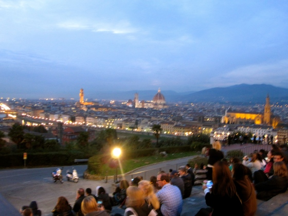 We also sat for a while on the steps, to enjoy the view and relax our legs