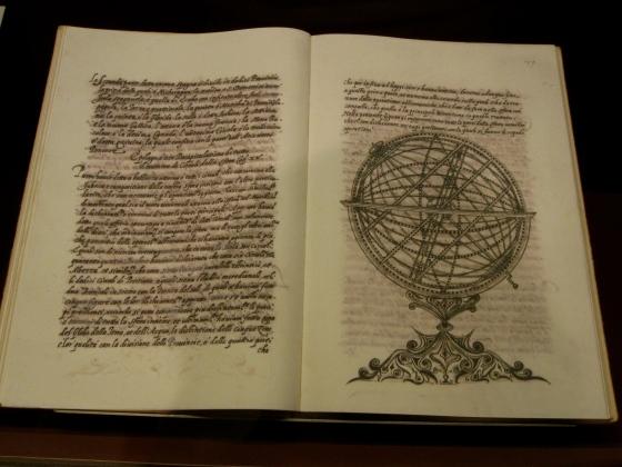 """""""Trattato sopra la nuova invenzione della sfera armillare"""" Antonio Santucci, 1582"""