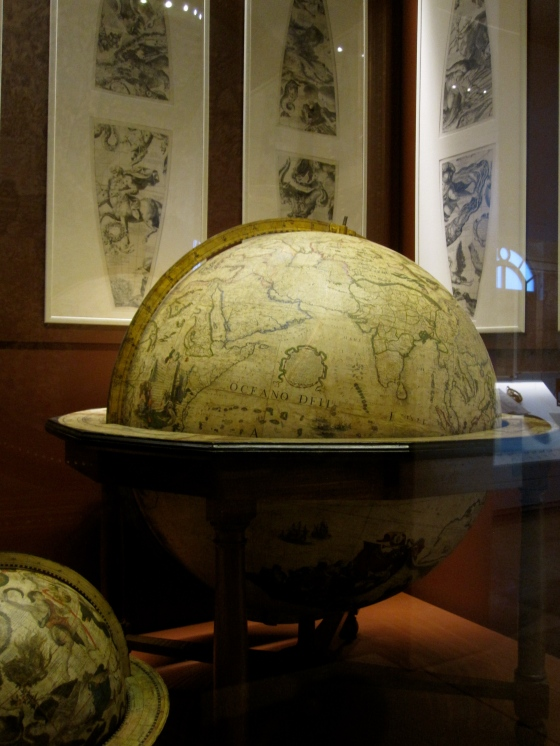 Another globe made by the Venetian cosmographer Vincenzo Maria Coronelli