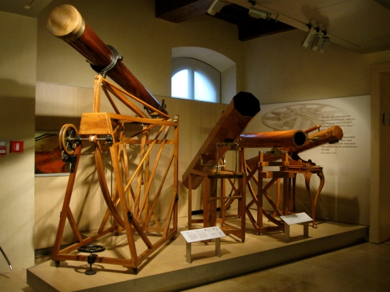 Beautiful wooden telescopes
