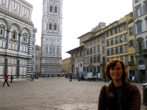 Mom with the Cathedral Square