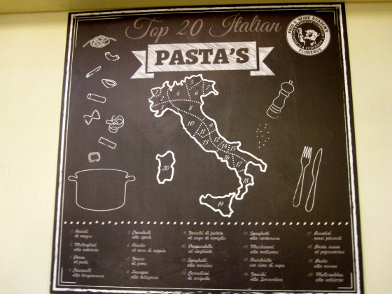 Learning about the regional pasta dishes